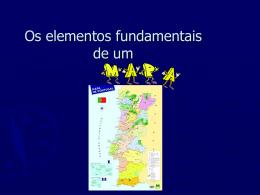 elementos de um mapa