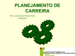 PLANEJAMENTO DE CARREIRA (Palestra do
