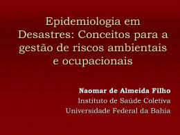 Epidemiologia em desastres