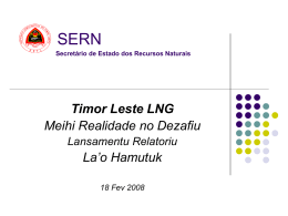TIMOR LESTE TRANSPERANCY MODEL (TLTM)