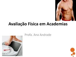 avaliação física - Ana Andrade
