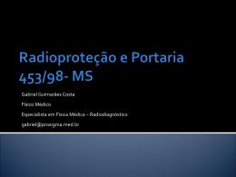 Radioprote__o e Portaria 453