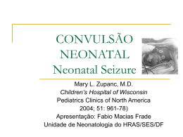 CONVULSÃO NEONATAL Neonatal Seizure