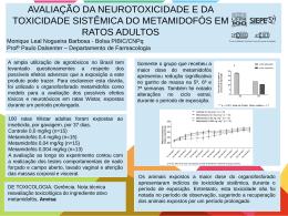 AVALIAÇÃO DA NEUROTOXICIDADE E DA TOXICIDADE