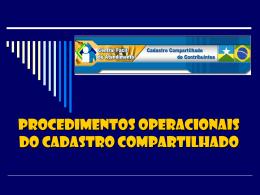 DOWNLOAD - Apresentação Operacional do Cadastro