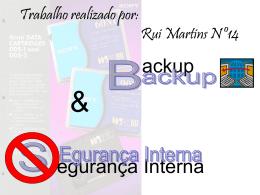 Backups e Recovery