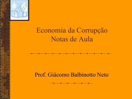 Economia da Corrupção - Programa de Pós