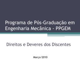 Informacoes para alunos PPGEM