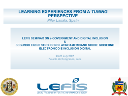 LEFIS SEMINAR ON E GOVERNMENT AND DIGITAL INCLUSION