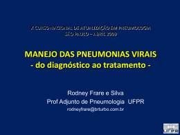 MANEJO DAS PNEUMONIAS VIRAIS Virus Influenza