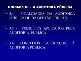 Unidade III - Auditoria 3.4 a 3.6