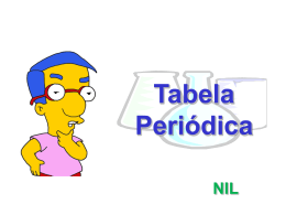Tabela Periódica - 9° - Prof. Nilsonmar