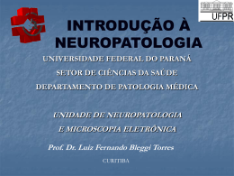 Introdução à Neuropatologia