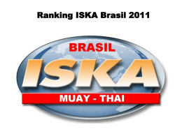 Ranking ISKA Brasil 2011