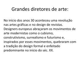 História dos Movimentos Artísticos do Século XX