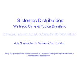 Modelos para Sistemas Distribuídos