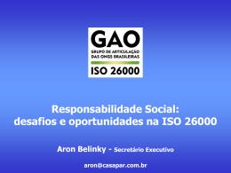 Responsabilidade Social Desafios e Oportunidades na ISO 26000