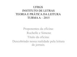 ufrgs instituto de letras teoria e prática da leitura turma a