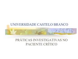 UNIVERSIDADE CASTELO BRANCO Prof. CLAUDIA ANGÉLICA