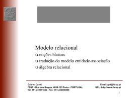 Transparências: modelo relacional