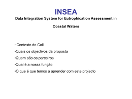 INSEA Data Integration System for Eutrophication