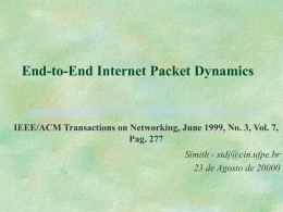 End-to-end Internet Packet Dynamics