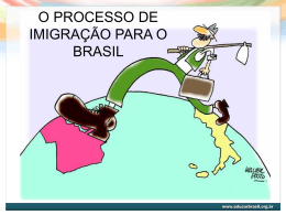 O processo de imigração para o Brasil