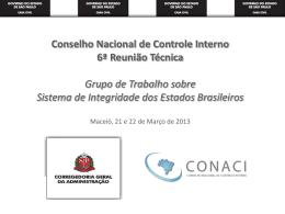 GT sobre Sistema de Integridade dos Estados Brasileiros