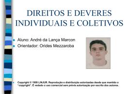 DIREITOS E DEVERES INDIVIDUAIS E COLETIVOS