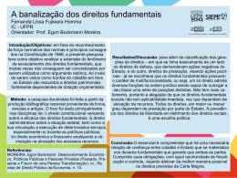 A banalização dos direitos fundamentais Fernanda Lissa