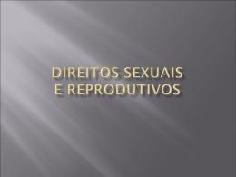 DIREITOS SEXUAIS E REPRODUTIVOS