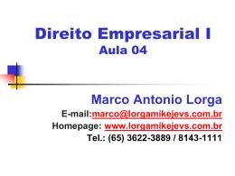 Aula Empresarial 04 - Do Direito de Empresa III