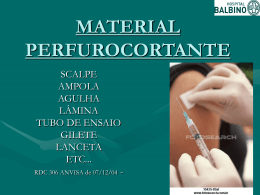 Descarte de Material Perfurocortante