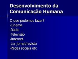 Desenvolvimento da Comunicacao Humana