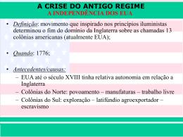 A CRISE DO ANTIGO REGIME Prof. Iair