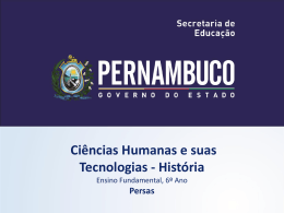 Persas - Governo do Estado de Pernambuco