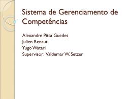 Sistema de Gerenciamento de Competências - Rede Linux IME-USP