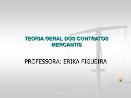 teoria geral dos contratos mercantis