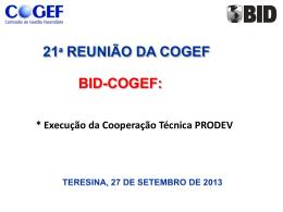 Anexo 14 – COGEF 21a reunião apresentacao BID