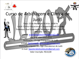 Curso de Arbitragem e Clinica de Judô - Judô Oriente - Uberaba-MG