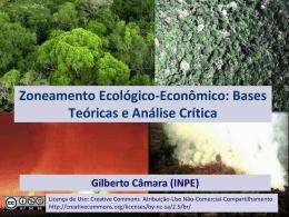 Zoneamento Ecológico-Econômico: Bases Teóricas e - DPI