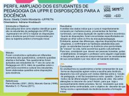 PERFIL AMPLIADO DOS ESTUDANTES DE PEDAGOGIA