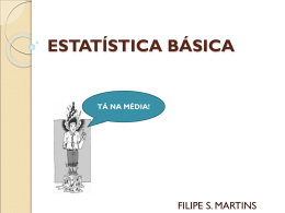 Aula01 – Estatística - NOTAS DE AULA