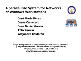 Parallel File System for Networks of Windows Workstations