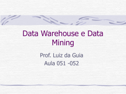 Data Warehouse e Data mining