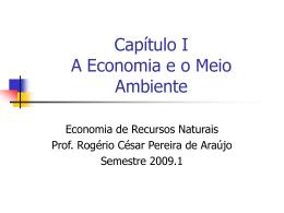 A Economia e o Meio Ambiente