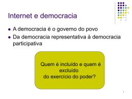 Cidadania e democracia na sociedade da informação
