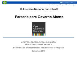 Sérgio Seabra - Parceria Para Gorverno Aberto