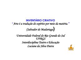 INVENTÁRIO CRIATIVO