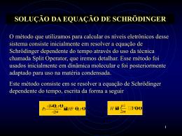Solução da Equação de Schrödinger Unidimensional